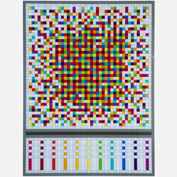 Abstract Composition 8 Rainbow Buckshot